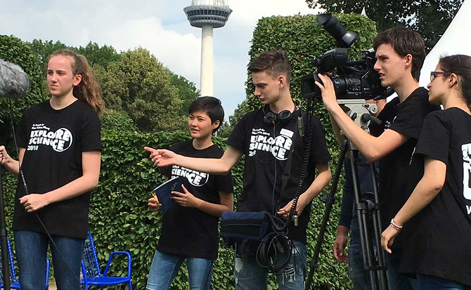 Foto Videoteam bei der Explore Science